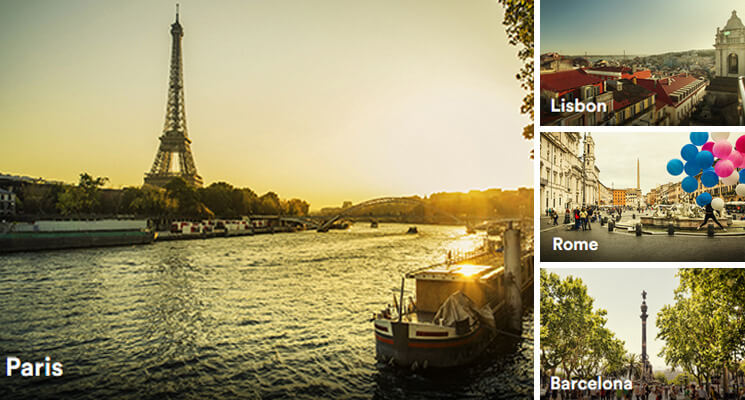 Airbnb destinations